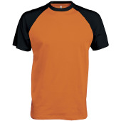 Baseball - tweekleurig t-shirt orange / black s