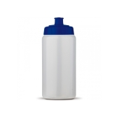 Sportbidon Basic 500ml transparant blauw