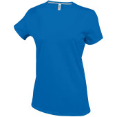 Dames t-shirt ronde hals korte mouwen light royal blue xl