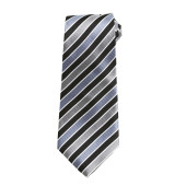 Candy stripe tie black / grey 'one size