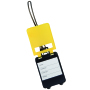 "Luggage tag ""Wanderlust"", yellow"