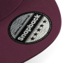 5 Panel Snapback Rapper Cap - Burgundy
