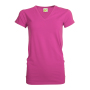 L&S T-shirt V-neck cot/elast SS for her Fuchsia XXL
