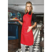 Colours bib apron with pocket white one size