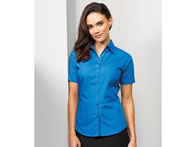 Ladies Short Sleeve Poplin Blouse