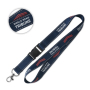 Lanyard with reflective threads and detachable buckle