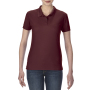 Gildan Polo Performance Double Pique SS for her Maroon M