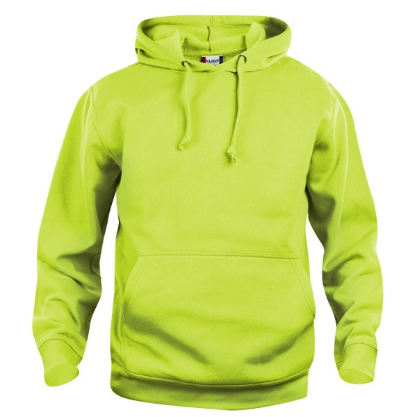 Bedrukte basic hoody sweater