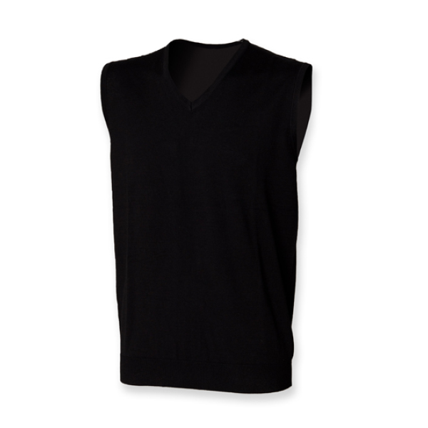 Men`s Lightweight Sleeveless V-Neck Jumper