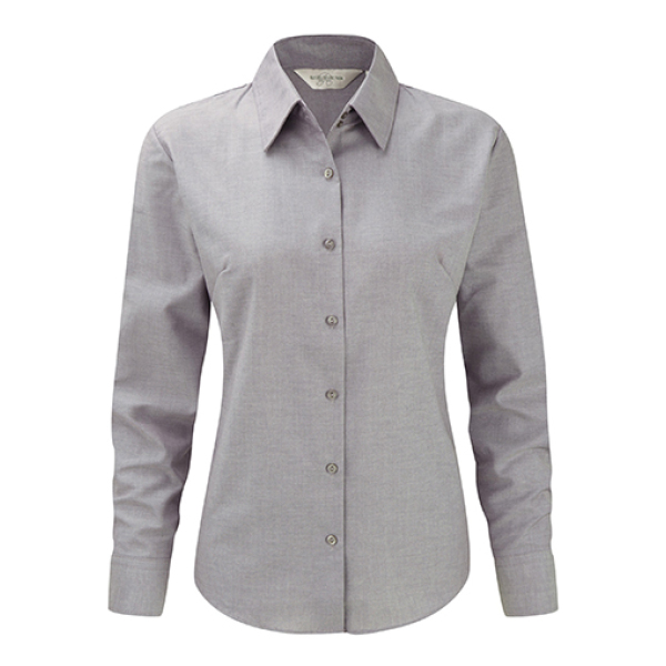 Ladies Oxford Blouse LS