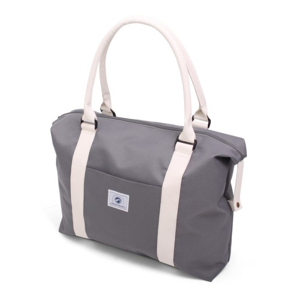 Vintage Beachbag Deluxe Grey & White
