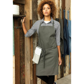 Colours bib apron black one size