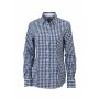 Ladies' Checked Blouse navy/wit