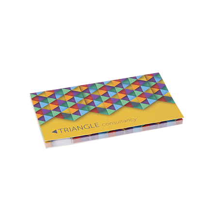 Sticky notes in omslag 2 in 1 135x75 mm 25 vel