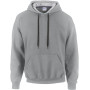 Heavy blend™ classic fit adult contrast hooded sweatshirt sport grey / black s