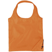 Bungalow opvouwbare polyester boodschappentas - Oranje