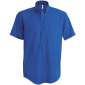 Ariana ii - heren overhemd korte mouwen light royal blue xxl