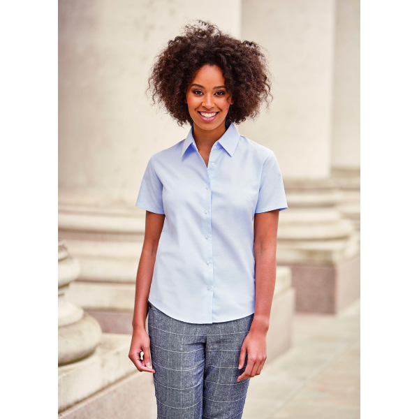 Ladies s/s Easy Care Oxford Shirt