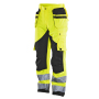 2215 Trouser HV Kl.2 Yellow/Black D124