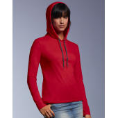 Women's Fashion Basic LS Hooded Tee
