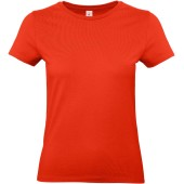 #e190 ladies' t-shirt fire red xs