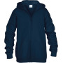 Heavy blend™classic fit youth full zip hooded sweatshirt navy '5/6 (s)