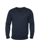 Aston heren V-neck sweater marine s