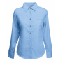 Lady-Fit longsleeve Poplin Shirt, Mid Blue, XS, FOL