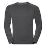 Adults HD Raglan Sweat, Grey Marl, XXL, RUS