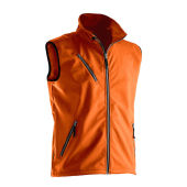 Jobman 7502 Light softshell vest oranje xs