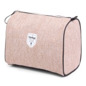Twin Tone Cosmetic Bag Cognac