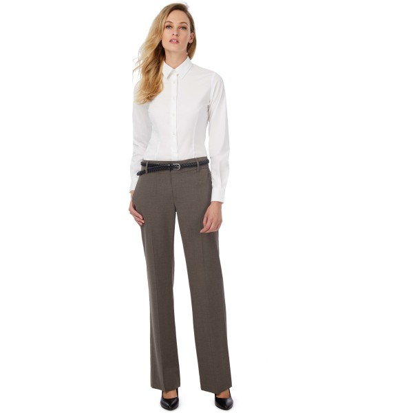 Black tie ladies' stretch shirt