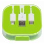 3-in-1 oplaadkabel RECHARGER - appelgroen
