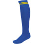 Sportsokken met contraststrepen dark royal blue / sporty yellow '47/50 eu