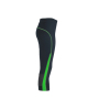 Ladies' Running Tights 3/4 ijzergrijs/groen