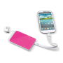 Powerbank 3000mAh, 8GB USB & Stylus wit / roze