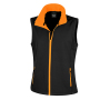 Bedrukbare Soft Shell Bodywarmer Dames XXL Black/Orange