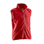 Jobman 7501 Fleece vest rood 4xl