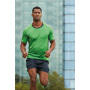 Men's Running T-Shirt - zwart-melange/wit