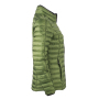 Ladies' Quilted Down Jacket - jungle groen/zwart