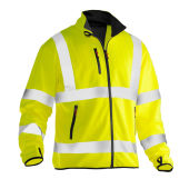 Jobman 5101 Hi-vis light softshell jacket geel xs