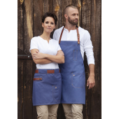 Waist Apron Jeans-Style with leather and pocket 70 x 45 cm