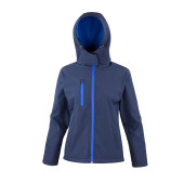 Core ladies tx performance hooded soft shell jacket navy / royal m