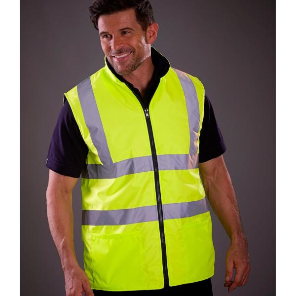 Hi-Vis Reversible Fleece Bodywarmer