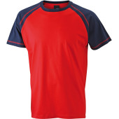 Men's Raglan-T - rood/navy