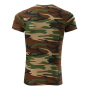 Camouflage T-shirt unisex camouflage brown XS