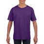 Gildan T-shirt SoftStyle SS for kids Purple XS