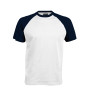 BASE BALL > T-SHIRT BICOLORE MANCHES COURTES white / navy S