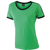 Ladies` Flag-T - kikker/zwart