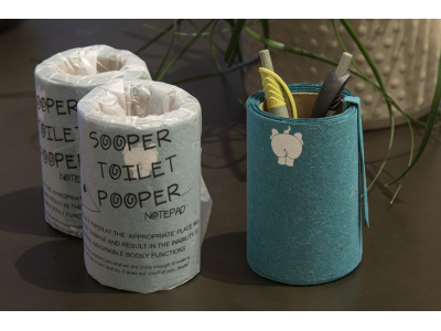 Paper roll -made from elephant poo